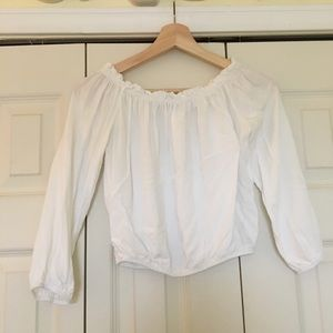 Off the Should White Blouse